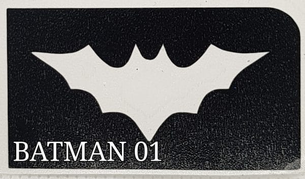 Batman 01 glitter tattoo