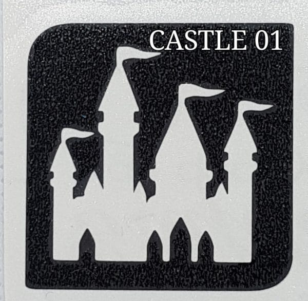 CASTLE 01 Glitter Tattoo Kit