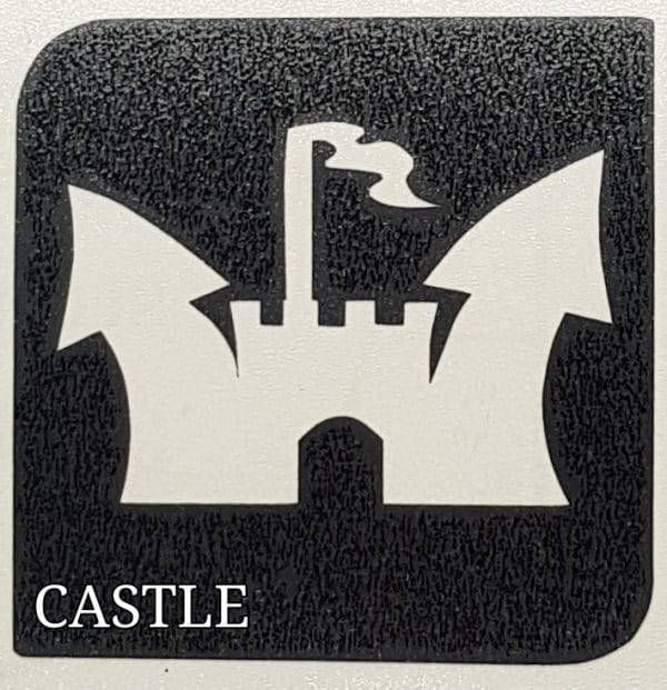 Castle glitter tattoo