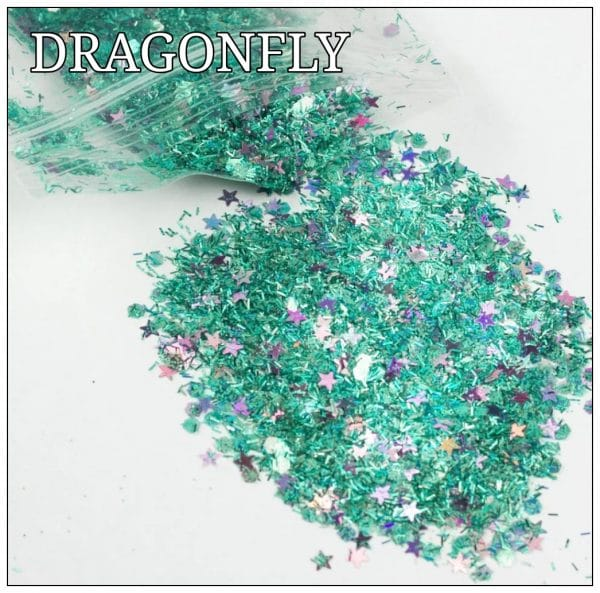 DRAGONFLY GLITTER COLOUR