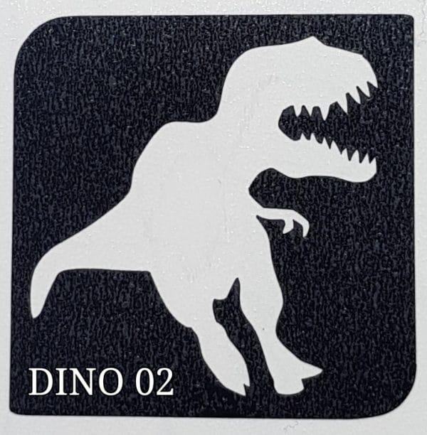 Dino 02 glitter tattoo 02