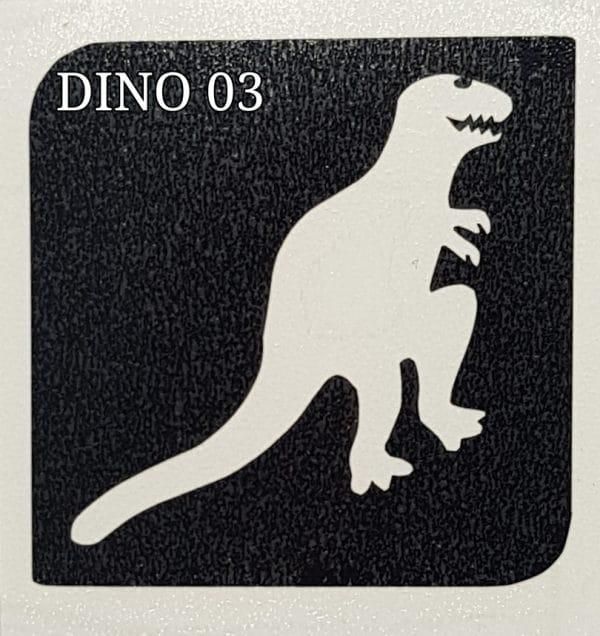 Dino 03 glitter tattoo