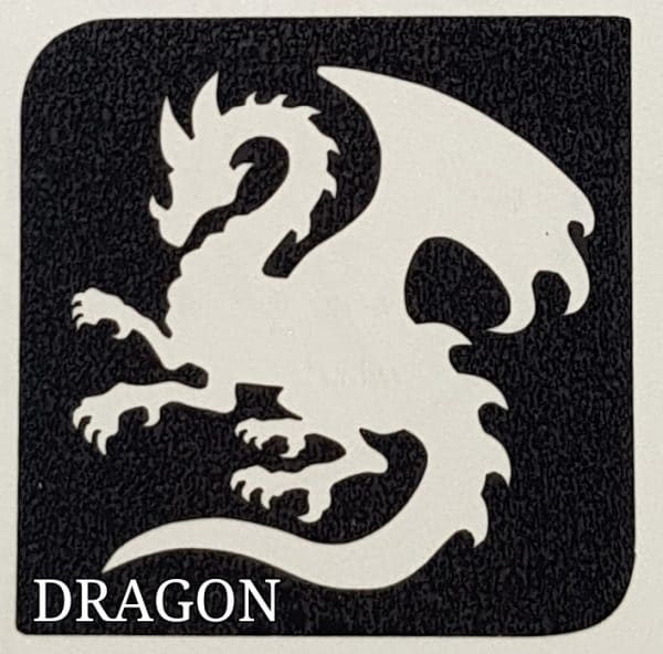 Dragon glitter tattoo