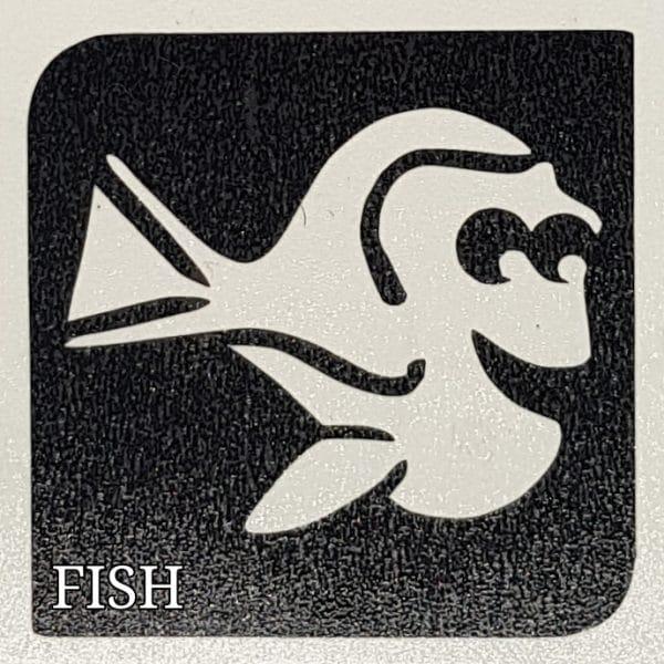Fish Glitter tattoo