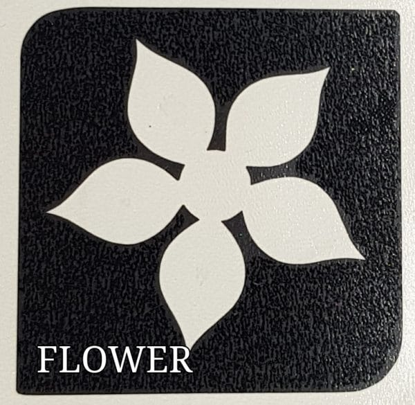 Flower Glitter tattoo