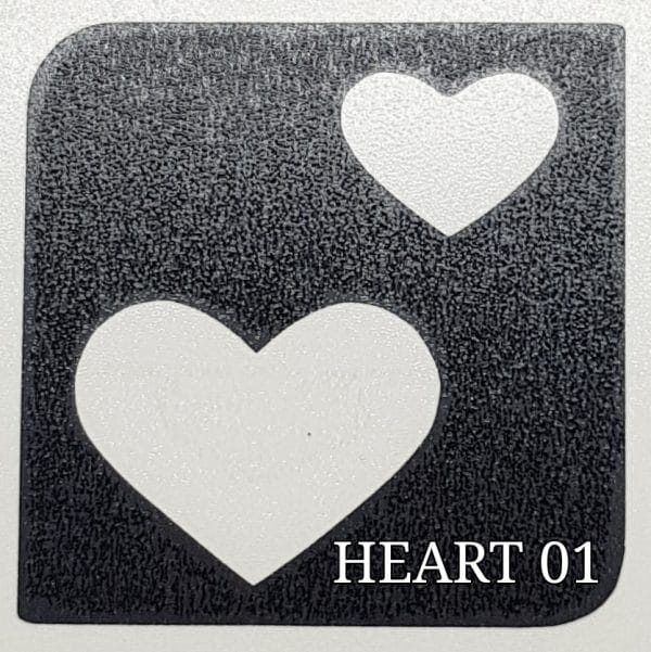Hearts 01 glitter tattoos