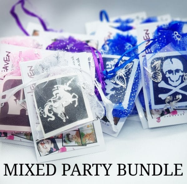 MIXED PARTY BUNDLE GLITTER TATTOO KITS PARTY BAGS