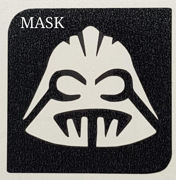 Mask glitter tattoo