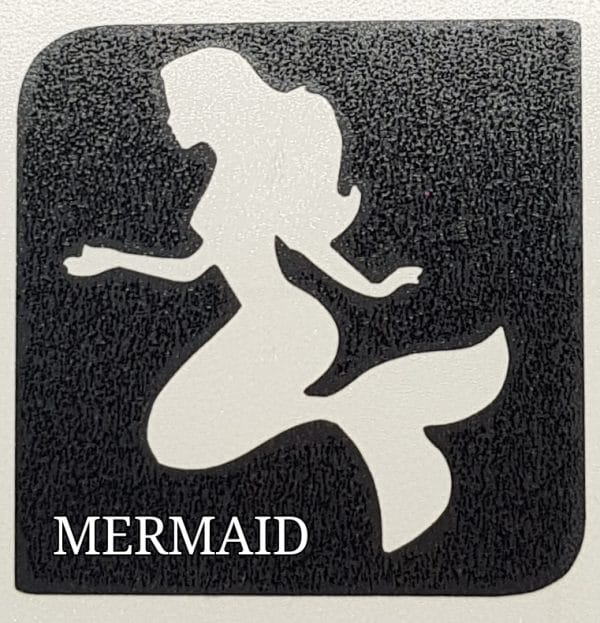 Mermaid glitter tattoo