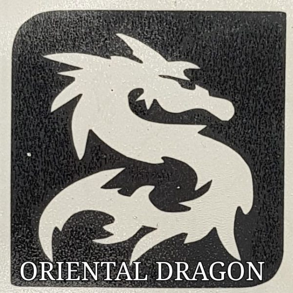 ORIENTAL DRAGON Glitter Tattoo Kit