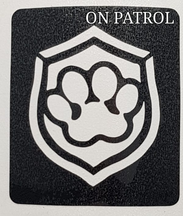 On Patrol Glitter tattoo