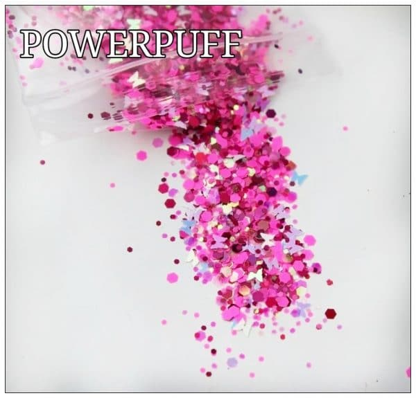 POWER PUFF GLITTER COLOUR