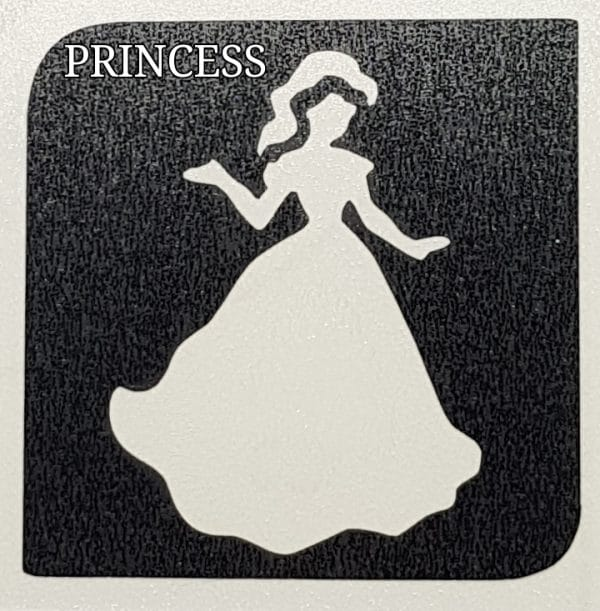 Princess glitter tattoo