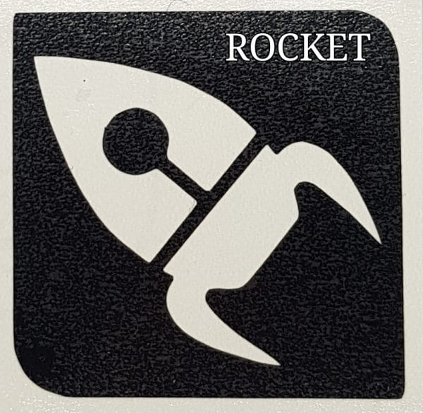 Rocket glitter tattoo