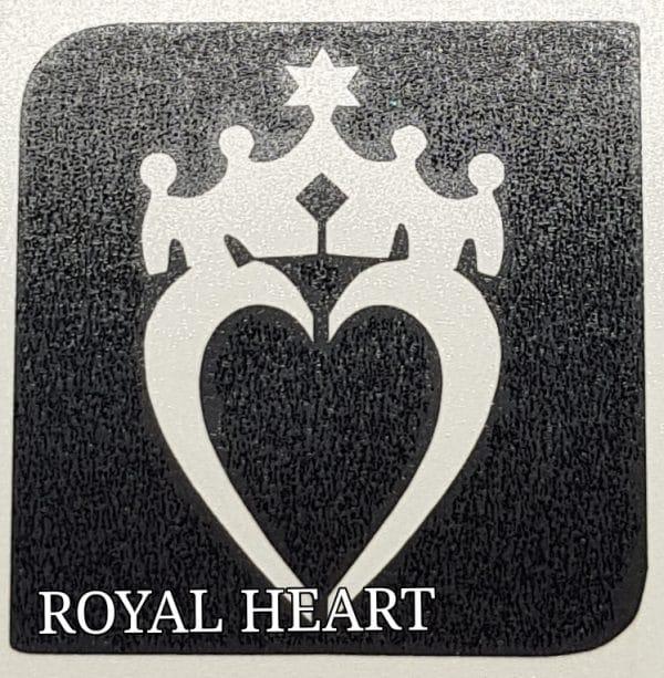 Royal heart glitter tattoo