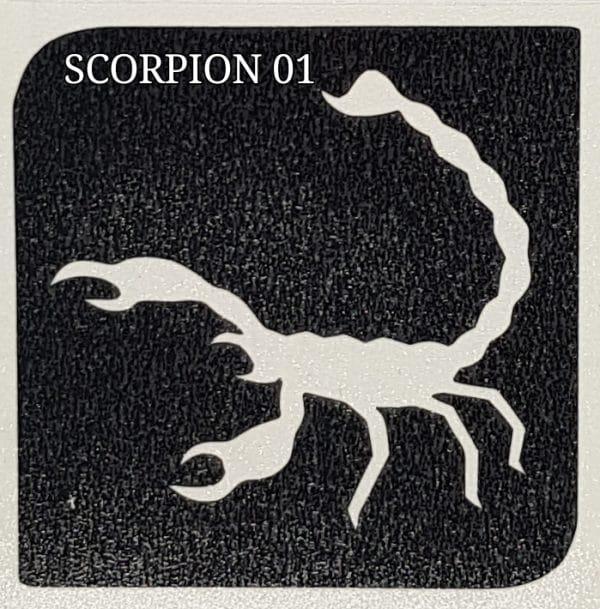 Scorpion 01 glitter tattoo