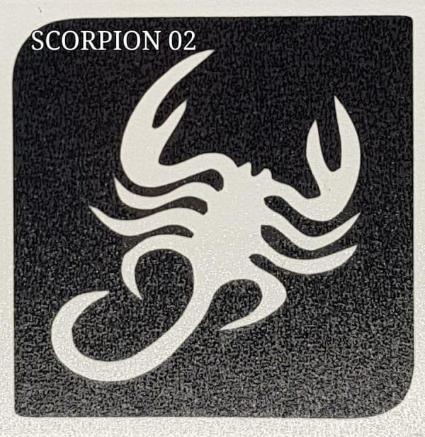Scorpion 02 Glitter tattoo