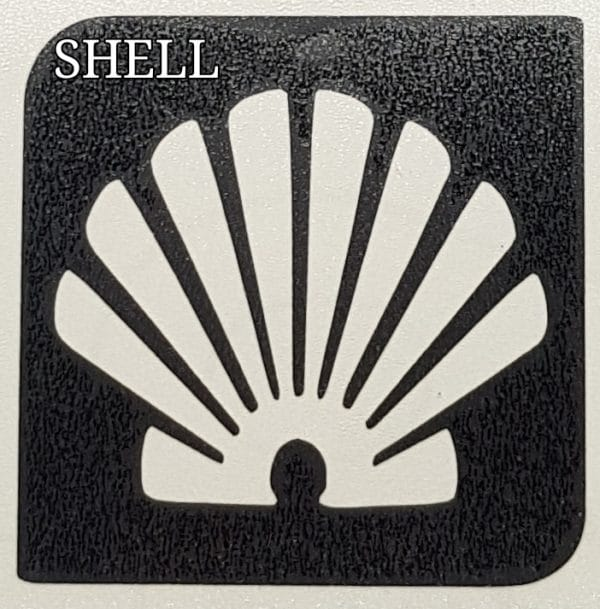 Shell glitter tattoo