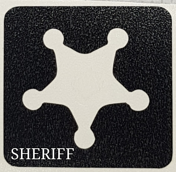 Sheriff glitter tattoo