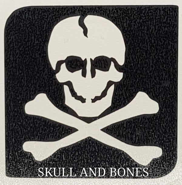 Skull and Bones glitter tattoo
