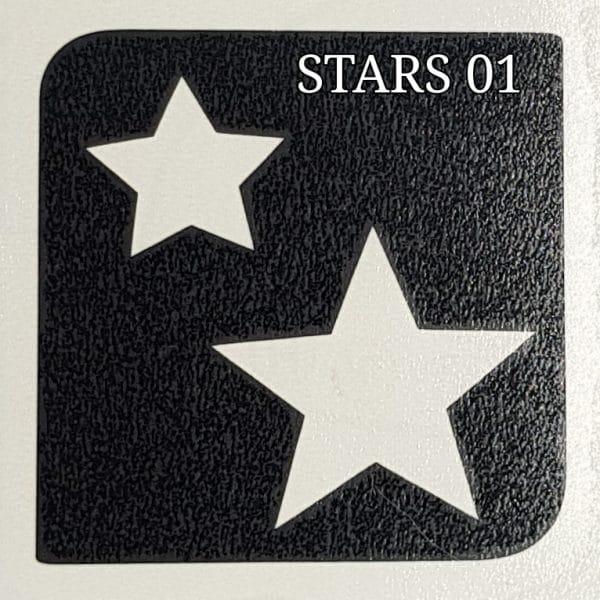 Stars 01 glitter tattoo