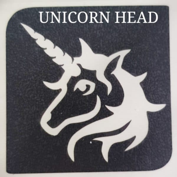 UNICORN HEAD Glitter Tattoo Kit
